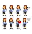 female manager cartoon vector image vector image