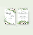 floral wedding double invite elegant card design vector image