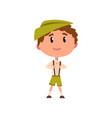 german boy in national clothes kid cartoon vector image vector image