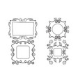 girly frames vector image vector image