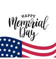 happy memorial day handwritten phrase vector image vector image