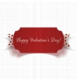 Happy Valentines Day greeting Card and Ribbon vector image vector image