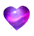 heart shape with ultraviolet outer space vector image vector image