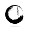 ink zen circle emblem hand drawn abstract vector image vector image