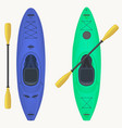 kayak and paddle kayaking water sport outdoor vector image