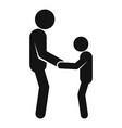 kid help senior man icon simple style vector image