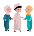kids muslim cartoon vector image vector image