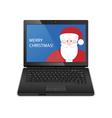 laptop santa vector image vector image