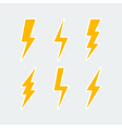 lightning bolt icons set vector image vector image