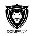 lion shield logo vector image