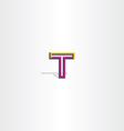 logo t letter t symbol vector image vector image