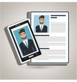 man smartphone find person cv vector image vector image