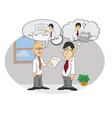 Miscommunication vector image