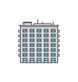 multi storey building line icon concept multi vector image