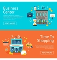 Office And Shops Banners Set vector image vector image