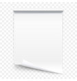 open vertical paper journal vector image vector image