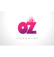oz o z letter logo with pink purple color and vector image vector image