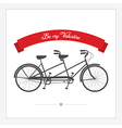 Postcard with vintage tandem bicycle vector | Price: 1 Credit (USD $1)