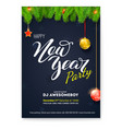 poster for happy new year holiday party greetings vector image vector image