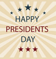 presidents day retro poster eps10 vector image vector image
