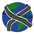 roads of the Earth vector image vector image