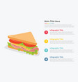 sandwich food infographic with some point title vector image