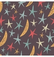 seamless pattern with stars and moons Endless vector image