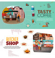 shops banners set vector image vector image