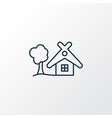 small hut icon line symbol premium quality vector image