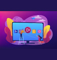 smart tv technology concept vector image