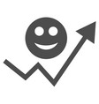 smile growing trend flat icon vector image vector image