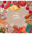 Square festive frame with Christmas decor vector image