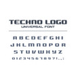 technology bold font geometric typography style vector image vector image
