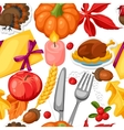 Thanksgiving Day seamless pattern Ornament with vector image vector image