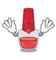 tongue out nail polish mascot cartoon vector image vector image