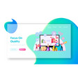 upsell landing page template tiny sellers and vector image vector image