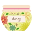 Vintage honey jar vector image vector image
