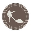 Vintage shoe label vector image