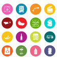 waste and garbage icons many colors set vector image vector image