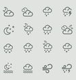weather forecast pictograms - night vector image vector image