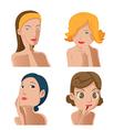 Woman Portrait Beauty Collection Set vector image