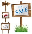 Wooden sale board set vector image vector image