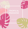 tropical paradise paper labels on the background vector image