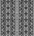 Black and white ethnic motifs background in doodle vector image
