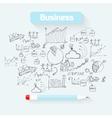 Sketch business background vector image