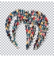 abstract Transparency symbol people vector image vector image