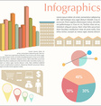 An infochart of the buildings vector image vector image