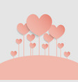 background of hearts air balloons valentine day vector image