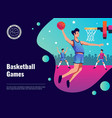 basketball games poster vector image