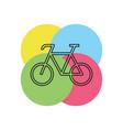 bicycle icon - bike - sport vector image